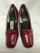 Vtg Shoes Pumps Town & Country 1960s Red Excellent 8N Ruby