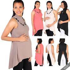 Ärmellose hüftlange Damenblusen, - tops & -shirts aus Polyester