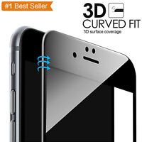 Premium Lightweight 3D Tempered Glass Screen Protector Black for iPhone 7 -4.7""