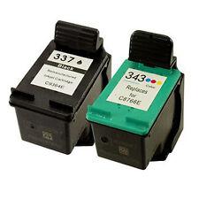 HP 337 C9364EE Black + HP 343 C8766EE Colour Reman Ink Cart HP Photosmart 2570