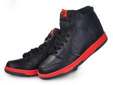 2008 Nike Dunk High Premium SZ 9 Black Red Hot Lava Tennis Pack SB QS 344648-002