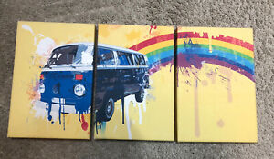 Campervan VW 3 Wall Print Picture Canvas