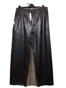 "MENS ""TOPMAN"" Leather Look Trousers 36"" Gay/Fetish/Rocker Int"
