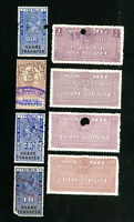 India Stamps Lot of 8 Early Court Tax Stamps