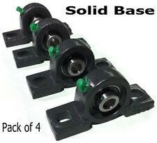 "4 EA 3/4"" Bore Self-Aligning Pillow Block Bearing Cast Iron UCP204-12 Solid Base"