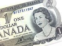 1973 Canada One Dollar BFD Prefix Circulated Elizabeth Canadian Banknote L373