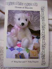 "8"" Mohair Baby Bear Pattern"