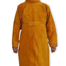 Welding Apron Anti-flame Cowhide Long Coat Protective Clothing Apparel Suit102cm