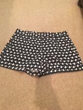 Cute Theory Navy & White Dress Shorts Size 10 NWOT