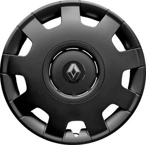 "14"" Renault  Clio  WHEEL TRIMS COVERS  HUB CAPS  SET OF 4 x14''  black"