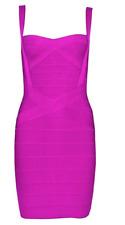 Herve Leger Dress Contrast Bodycon Pink Bandage Spaghetti Strap A482 **L