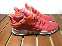 Adidas EQT Support ADV Mens CQ3004 Real Coral White Knit Running Shoes Size 10