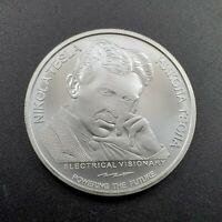 2020 Serbia 1 oz .9999 Silver 100 Dinar Nikola Tesla X-Ray Gem BU Coin