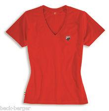 DUCATI CORSE Ducatiana Racing T-shirt Donna Top a manica corta lady rosso NUOVO