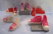 "Lot Mattel Barbie 11"" Adult Teen Skipper Flat Foot CONVERSE TENNIS Shoes 5 Pairs"