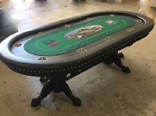 """96"""" Custom Poker Table Custom Felt claw feet base your choice colors stain vinyl"""