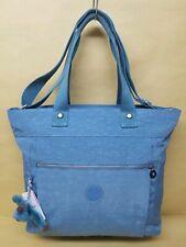 New Kipling Lizzie Laptop Tote Bag Travel Blue Bird