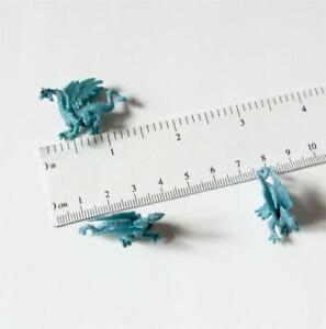 Doll House Shoppe Toy 3 Ice Dragon Figures Game Piece 11936 Micro-Mini Miniature