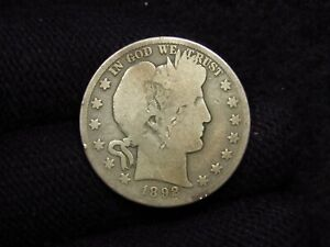 1892-S Barber Half Dollar Good