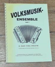 % VOLKSMUSIK ENSEMBLE 1, Heft D - Bass / Tuba / Posaune - Noten Spielbuch