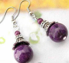 Hot! New Handmade Beautiful Tibet Silver purple bead Earring Earrings