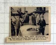 1919 British Flying Boat Visits Helsingfors, Capt Bailey