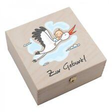 """Hufeisen-Box """"Zur Geburt"""" Geburt Nachwuchs Kind Baby mit persönlicher GRAVUR"""