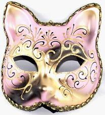 Venetian Masquerade Cat Pink And Gold Mask