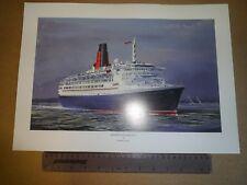 Cunard QE2 Print by Harley Crossley Home Decor