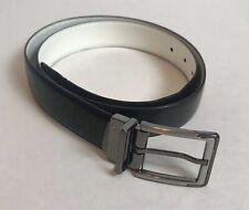"Perry Ellis Men's Reversible Black White Medium Sz 36 Belt Leather W 1-1/4"""