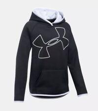 NWT Girls Youth Medium Under Armour Storm Big Logo Fleece Hoodie MSRP $44.99