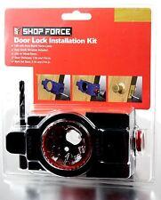 2 PACK SHOP FORCE Door Lock Installation Kit For Solid Wood Doors Replacement