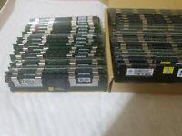 Lot of 43 4GB 667Mhz DDR2 PC2-5300F 2RX4 Server Memory Dell