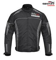 Motorcycle Biker Rider Safety Textile Cordura Jacket Waterproof Men Black Jacket