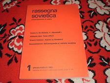 rassegna sovietica 1/1984  v. indice