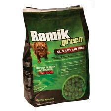 NEW RAMIK BRUTE 116339 4LB BAG NUGGETS GREEN RAT RODENT BAIT POISON WORKS GREAT