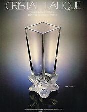 PUBLICITE  ADVERTISING  1980   CRISTAL  LALIQUE  vase LUCCA