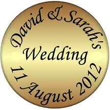 70 Personalised Gold Wedding Invitation Envelope Seals