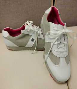 Footjoy Casual Collection Golf Shoes (Pink / Grey) Womens Size 5.5
