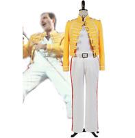 Queen Vocals Mercury Kostüm Lead Freddie Gelbe Jacke Cosplay A35RLqcj4S