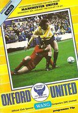 Oxford v Manchester United - Littlewoods Cup - 1987/88
