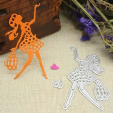 Girl Cutting Dies Stencil DIY Scrapbooking Embossing Album Paper Card Craft