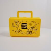 Vintage Burger King Pencil Case Lunch Box USA Whirley Industries Yellow
