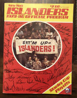 1979-80 NY Islanders Hockey Playoff Program vs Bruins NHL New York Nice