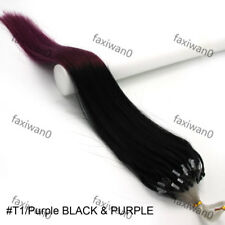"""Easy Loop Micro Double Drawn Ombre Real Remy Human Hair Extensions 16-26"""" 50gr"""