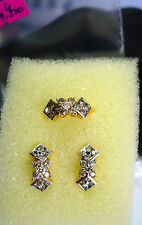 jem: SALE! 15% OFF! 14k SOLID GOLD with GENUINE DIAMONDS EARRING & RING sz. 6