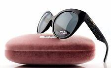 MIU MIU Sunglasses 07rs 1ab1a1 Black Grey