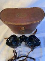 Vintage Stellar Precision 7x50 Coated Optics Binoculars Leather Case strap Japan
