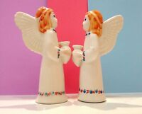 Angels candlesticks figurine porcelain from Russia angels hand painted