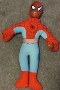 """Spider-man Suction Cup Doll Plush Stuffed Window Cling Spider Man 15"""" Super Hero"""
